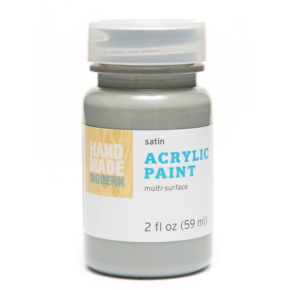 Image of 2oz Satin Acrylic Paint - Forget-me-Not Hand Made Modern , Grey