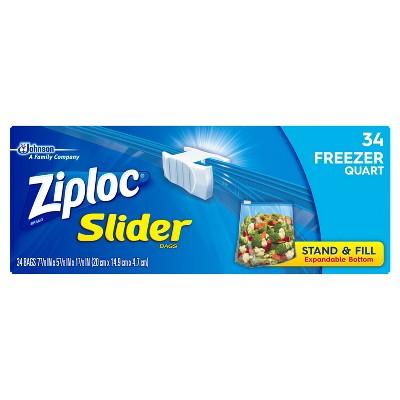 Ziploc® Freezer Quart Slider Bags Quart - 34ct