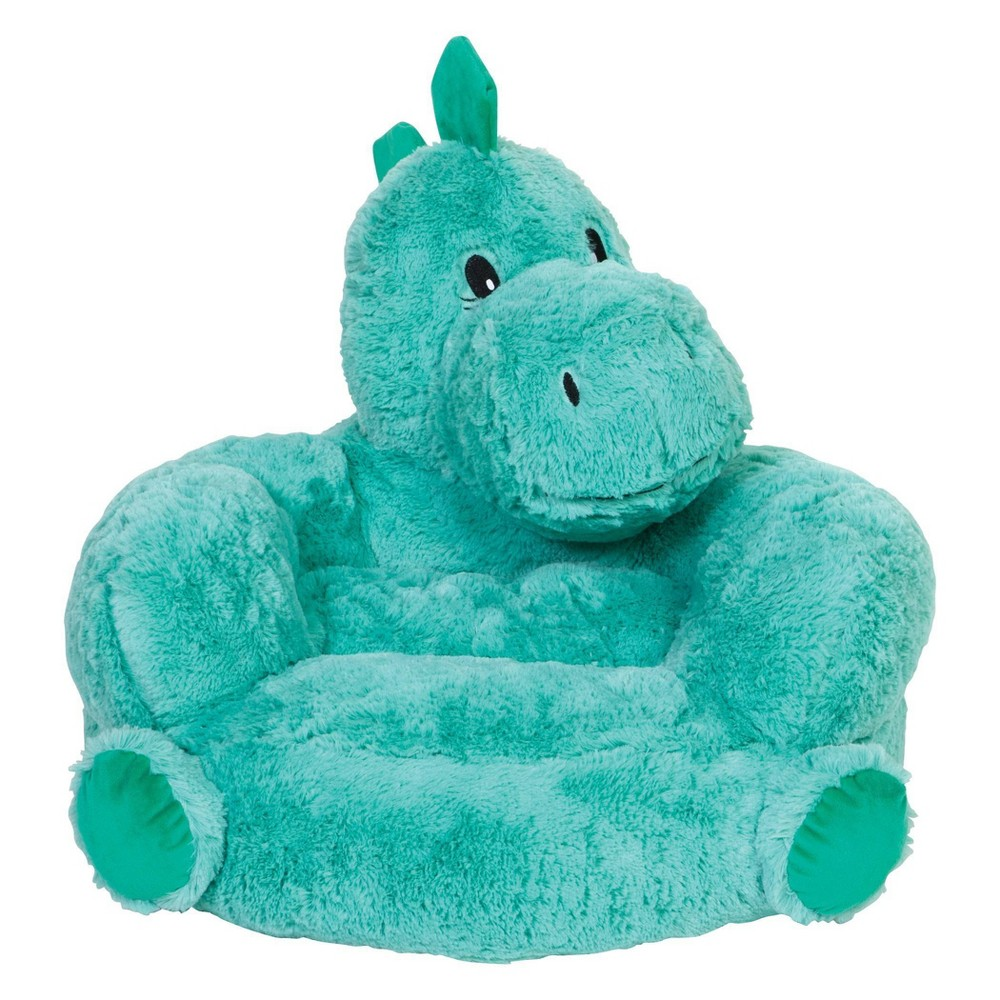 Image of Children's Plush Dinosaur Character Chair Green - Trend Lab