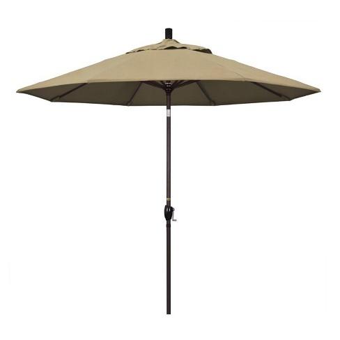 9' Patio Umbrella in Heather Beige - California Umbrella - image 1 of 2