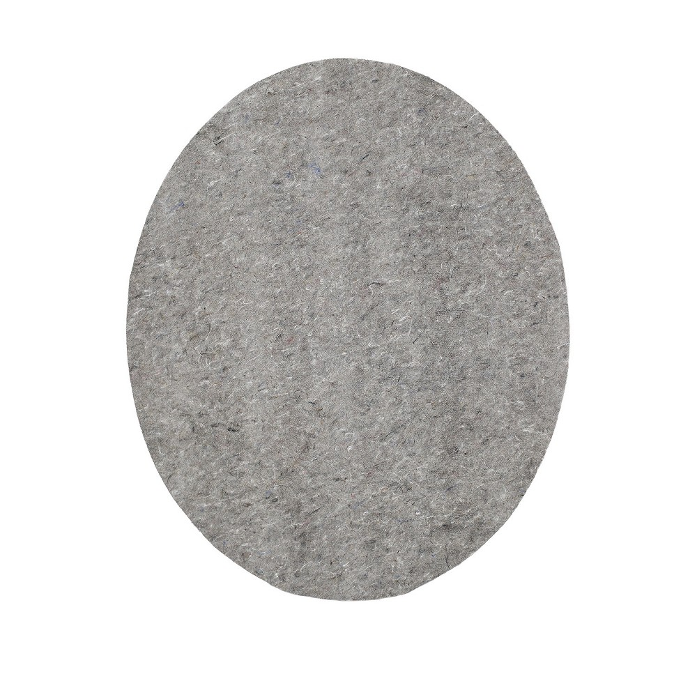 Image of 6'6 Solid Oval Rug Pad Gray - Mohawk