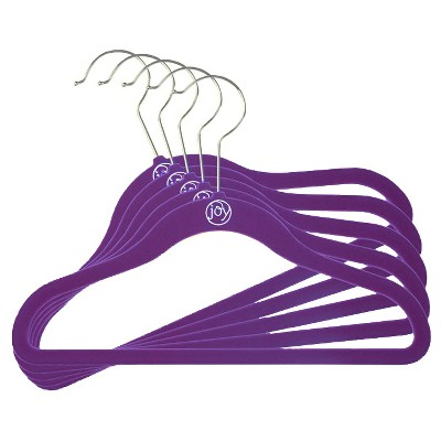 Huggable Hangers 5pc Kids Hangers - Purple