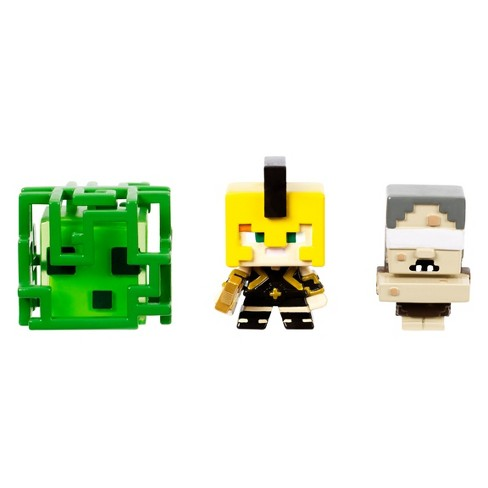 Minecraft Build-A-Mini 3pk - Slime Cube Medusa, Alex In Achilles Armor, and Stygian Witch - image 1 of 3