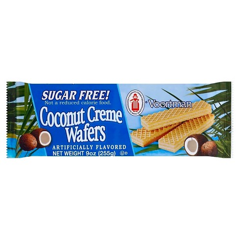 Voortman Sugar Free Coconut Creme Wafers - 9oz - image 1 of 1