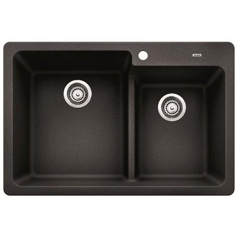 "Blanco 441604 Grandis 33"" Silgranit Granite Composite Drop In or Undermount Double Bowl Kitchen Sink - image 1 of 1"