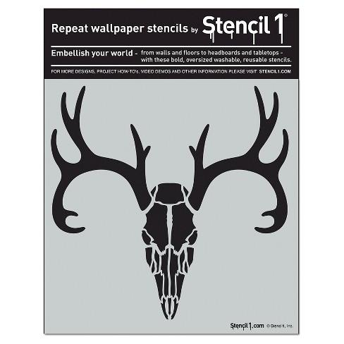 Stencil1® Antlered Deer Skull - Wall Stencil 11