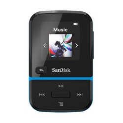 SanDisk 32GB Clip Sport Go Wearable MP3 Player, Blue