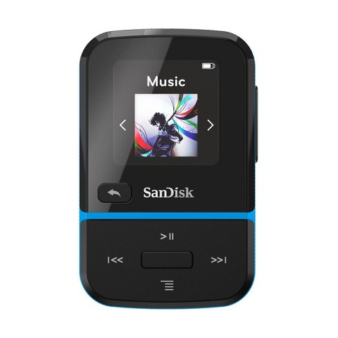 SanDisk 32GB Clip Sport Go Wearable MP3 Player, Blue - image 1 of 4