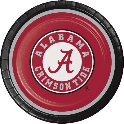 8ct Alabama Crimson Tide Paper Plates