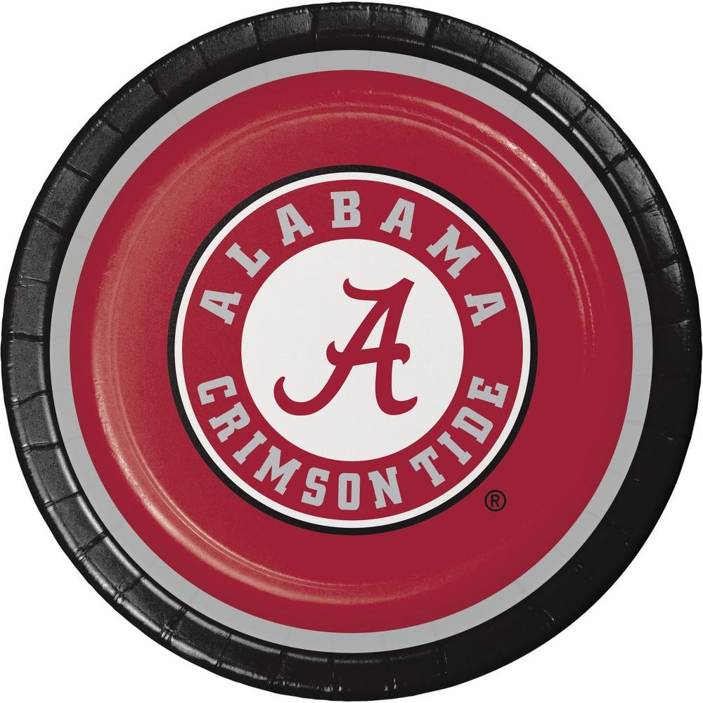 Image of 8ct Alabama Crimson Tide Paper Plates, Red