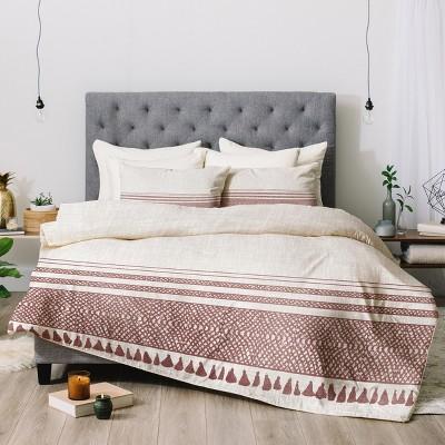 Beige Holli Zollinger Sandstone Tassel Comforter Set (Queen)- Deny Designs