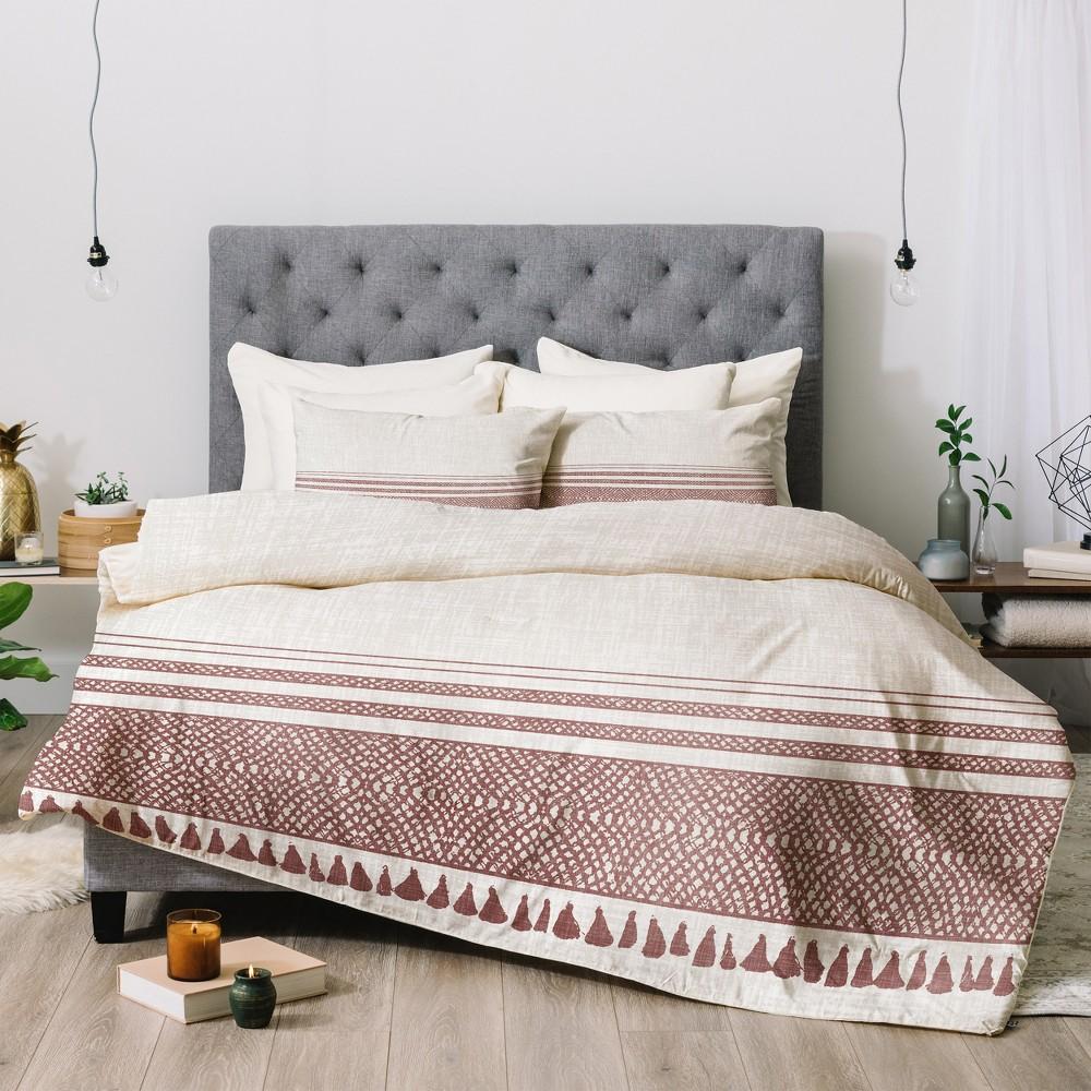 Beige Holli Zollinger Sandstone Tassel Comforter Set (Queen) - Deny Designs