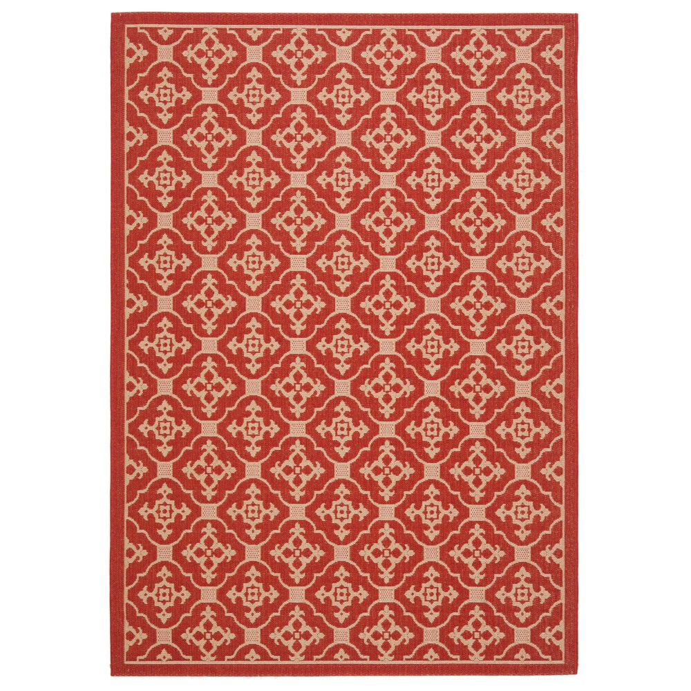 8' x 11' Coventry Outdoor Rug Red/Cream - Safavieh, Red/Creme