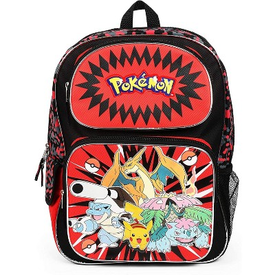 Fashion Accessory Bazaar LLC Pokemon Character Group Red 16 Inch Backpack