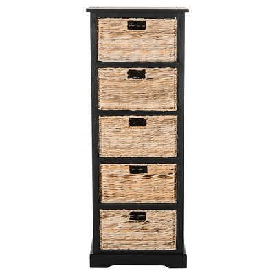 Vederre 5 Wicker Basket Storage Chest   Safavieh® : Target