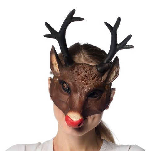 HMS Supersoft Reindeer Adult Costume Mask - image 1 of 1