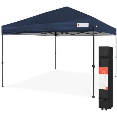 Best Choice Products 10x10ft Easy Setup Pop Up Canopy Instant Portable Tent w/ 1-Button Push	Wheeled Carry Case