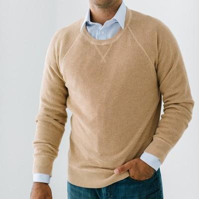 Hope & Henry Mens' Fine Gauge V-Neck Pullover Sweater