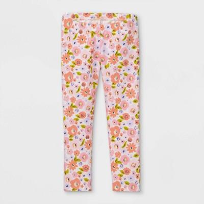 Toddler Girls' Floral Leggings - Cat & Jack™ Pink