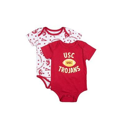 NCAA USC Trojans Baby Sigler 2pk Bodysuits - 6M