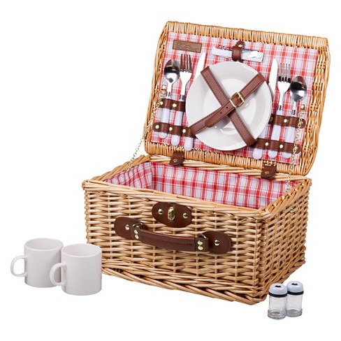 Picnic Time Catalina Picnic Basket - Red and White Plaid - image 1 of 4