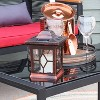 """Sunnydaze Outdoor Lucien Hanging Tabletop Solar LED Rustic Farmhouse Decorative Candle Lantern - 9"""" - Copper - image 3 of 4"""