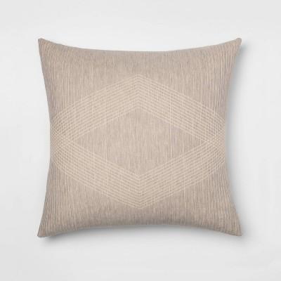 Oversized Reversible Jacquard Pillow Sham Gray - Project 62™ + Nate Berkus™
