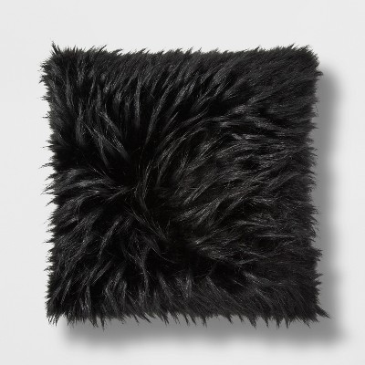 Black Faux Fur Throw Pillow - Project 62™