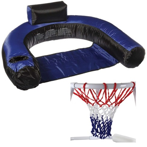 Swimline Inflatable Swimming Pool Chair Float & Swimming Pool Basketball Game - image 1 of 4