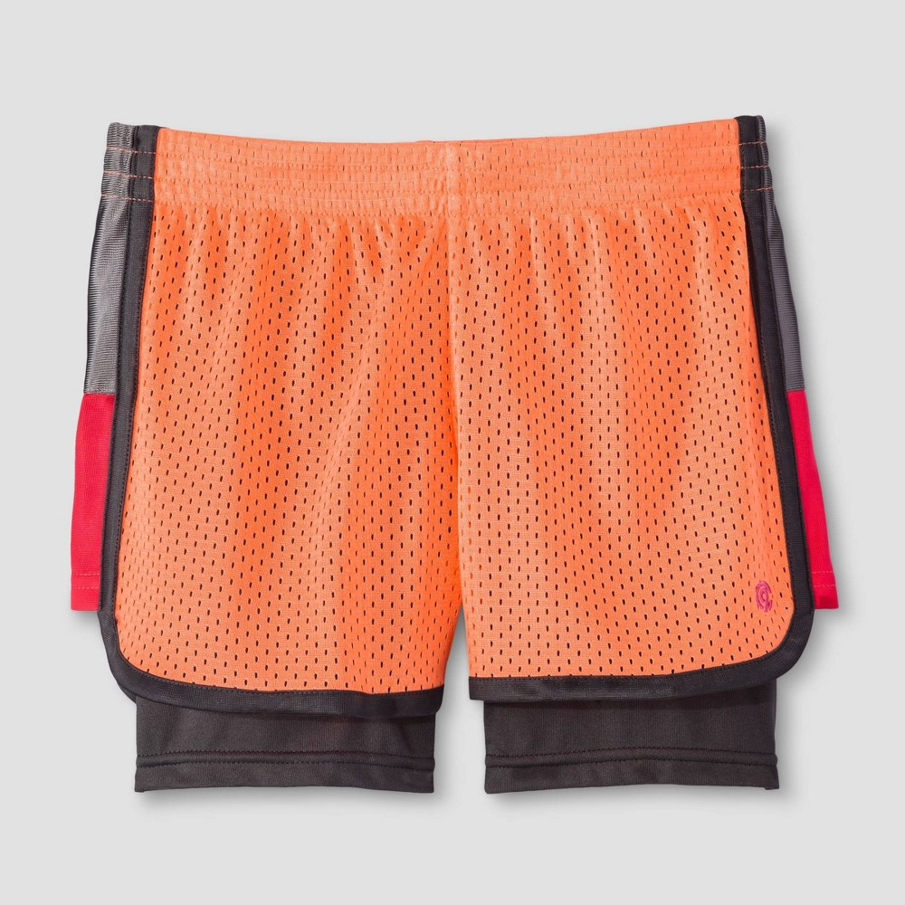 Girls 2 In 1 Mesh Shorts C9 Champion 174 Coral L