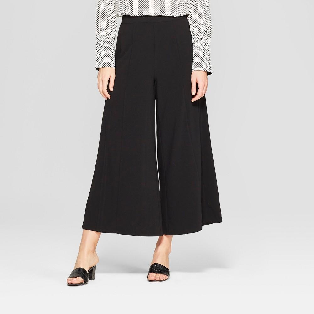 Women's Mid-Rise Wide Leg Palazzo Pants - Who What Wear Black 12