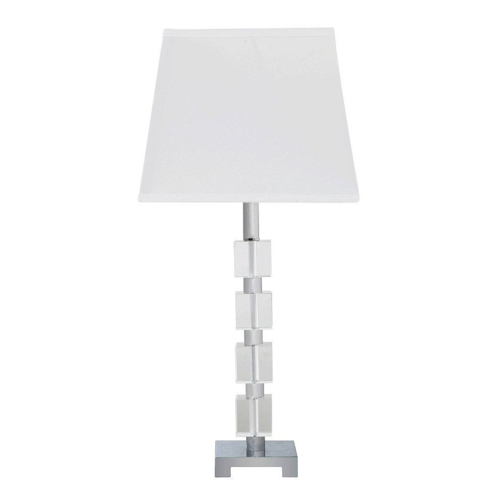 Image of Wendi Glam Crystal Table Lamp Medium Silver (Lamp Only) - Ore International