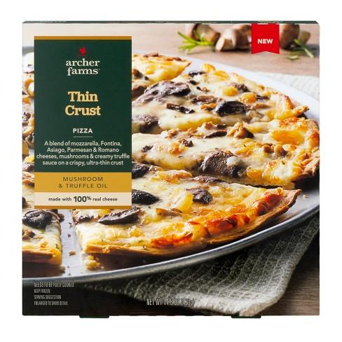 Mushroom & Truffle Oil Thin Crust Frozen Pizza - 14.8oz - Archer Farms™ - image 1 of 1