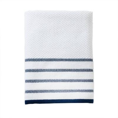 Vern Yip Boho Floral Bath Towel Navy - SKL Home