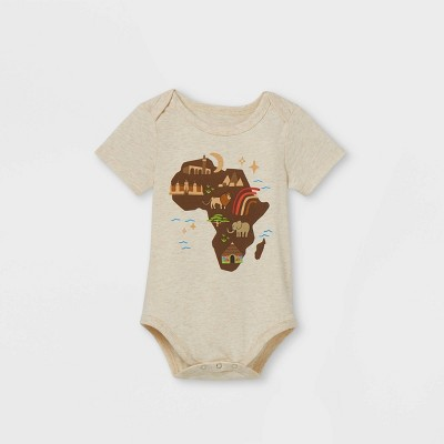 Black History Month Infant Africa Bodysuit - Oatmeal Heather 3-6M