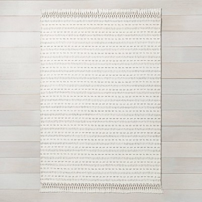 7' x 10' Pattern Stripe Area Rug Jet Gray / Sour Cream - Hearth & Hand™ with Magnolia