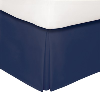 Navy Tailored 14  Bed Skirt Queen - Levinsohn
