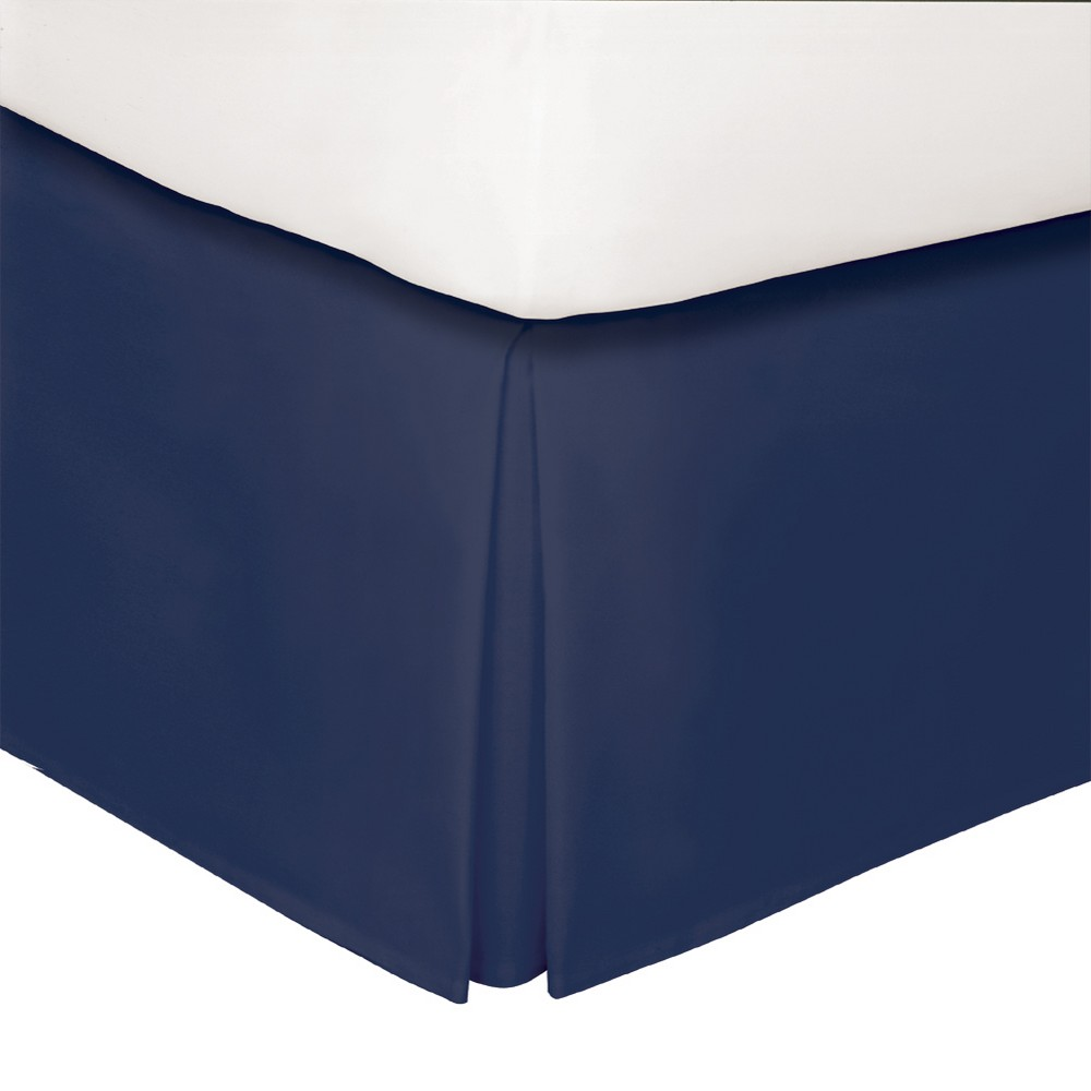 "Image of ""Navy Tailored 14"""" Bed Skirt King - Levinsohn, Blue"""