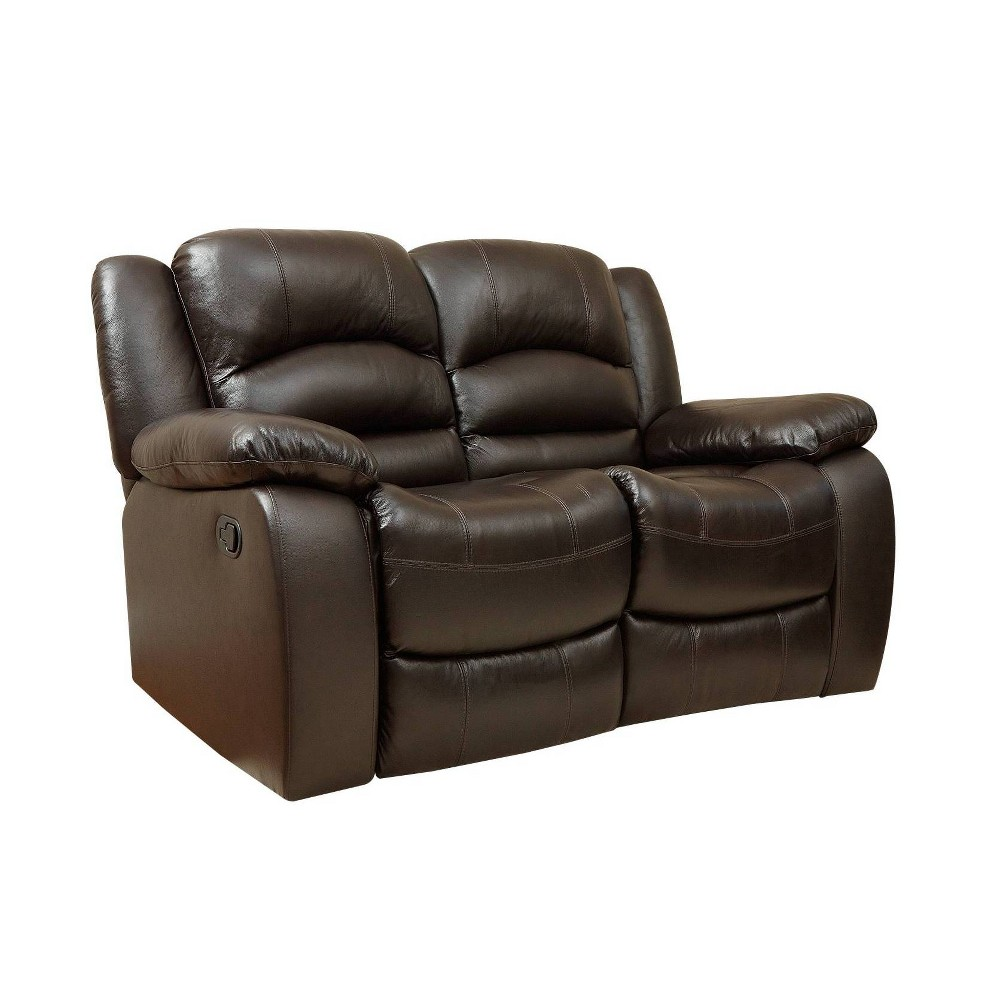 Featherstone Reclining Loveseat - Abbyson Living, Brown