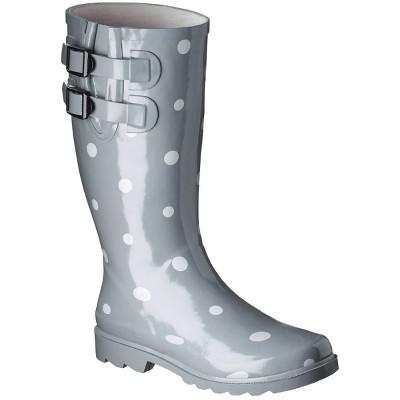 Women's Novel Dot Rain Boot - Gray 7