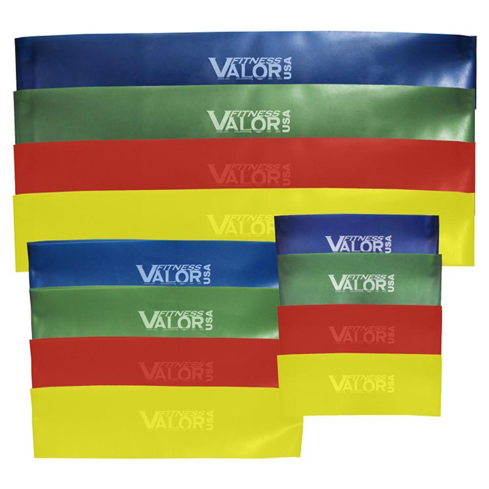 Valor Fitness TL-Set Thin Loop Resistance Bands Set of 4 Strengths, Blue