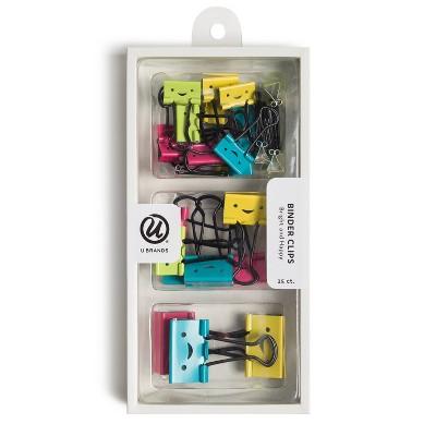 U Brands 25ct Binder Clip Set
