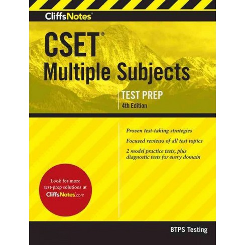 Cliffsnotes cset multiple subjects (paperback): target.