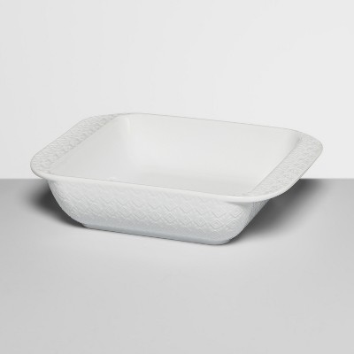 8  Ceramic Textured Bakeware White - Opalhouse™