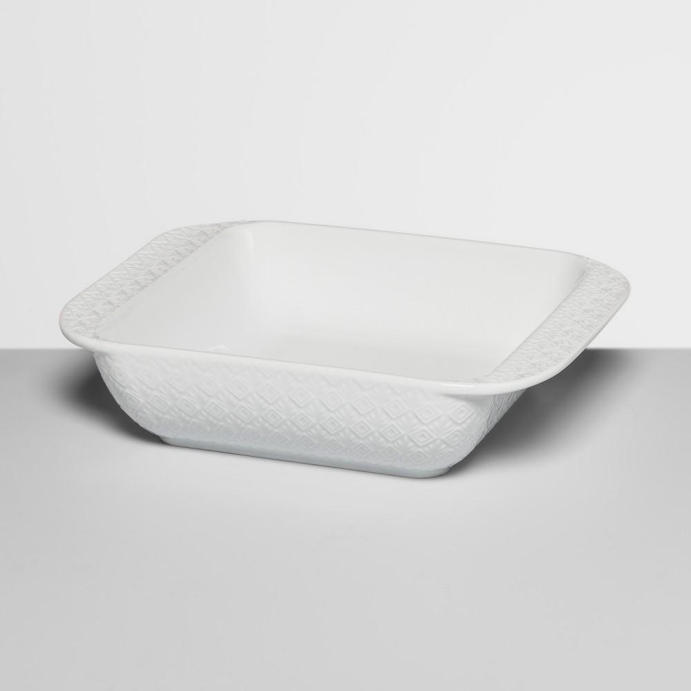 8 Ceramic Textured Bakeware White - Opalhouse