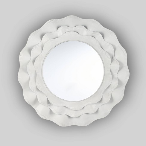 "29.75"" x 29.75"" Bergstrom Modern Farmhouse Mirror White - Christopher Knight Home - image 1 of 4"