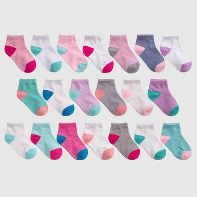 Baby Girls' 20pk Ankle Socks - Cat & Jack™ 6-12M