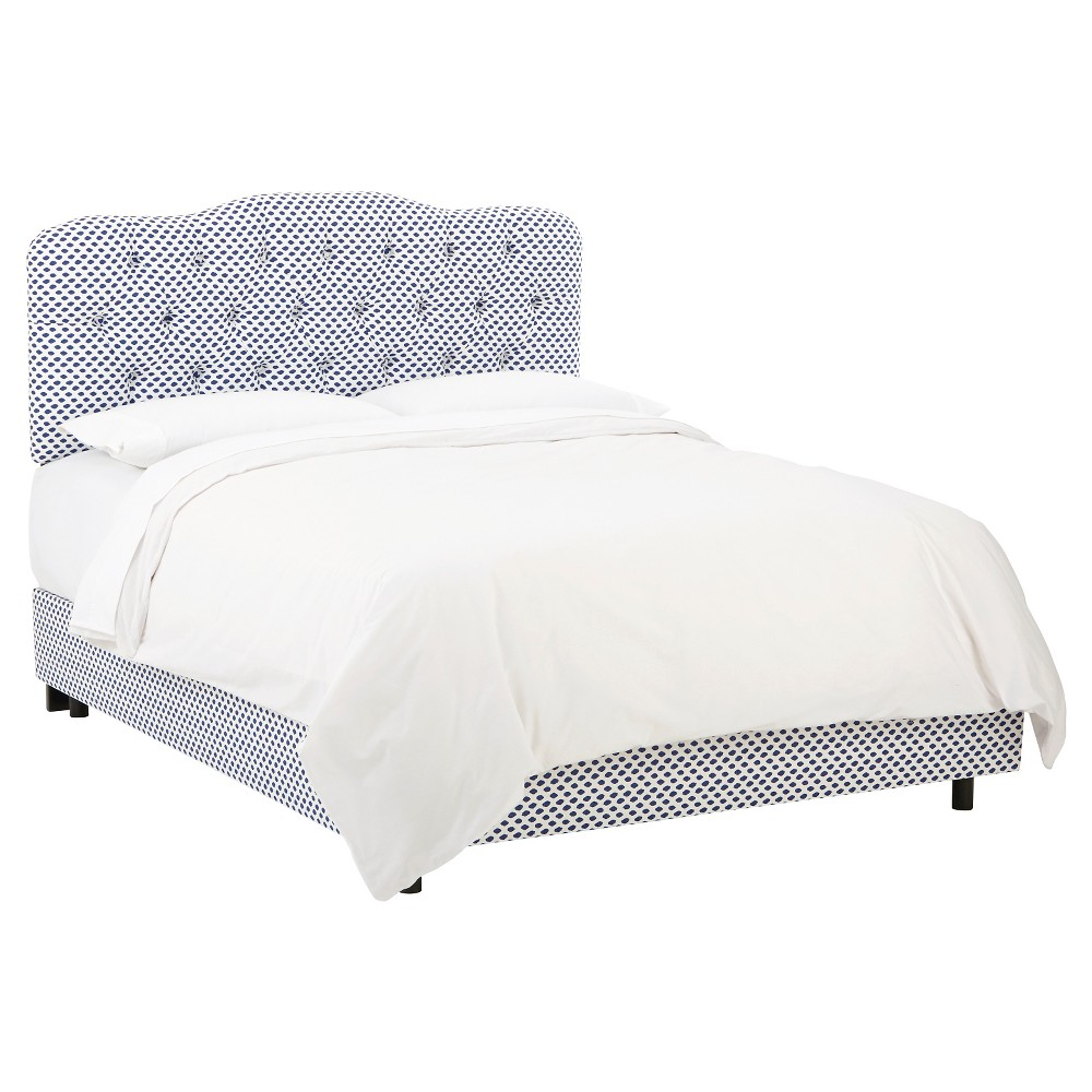 Full Seville Patterned Bed Sahara Midnight White Flax - Skyline Furniture
