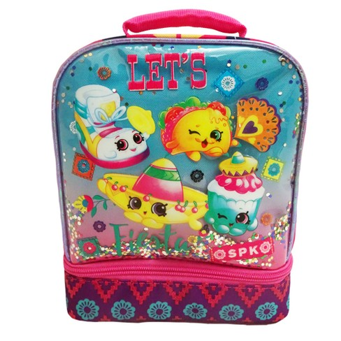 Shopkins Dual Compartment Lunch Bag - Pink/Turquoise - image 1 of 4
