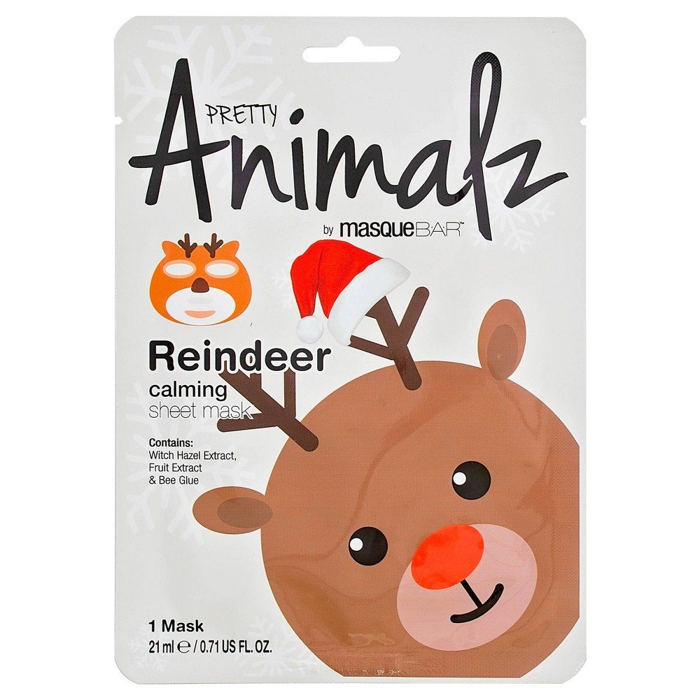 Image of Masque Bar Pretty Animalz Reindeer Calming Sheet Mask - 0.71 fl oz